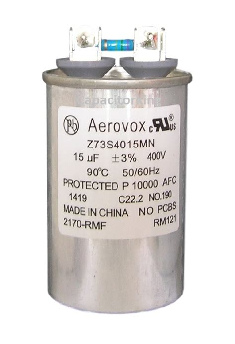 aerovox hid capacitors aerovox lighting capacitor 15uf 400 volt metal halide z73s4015mn 2170 rmf metal