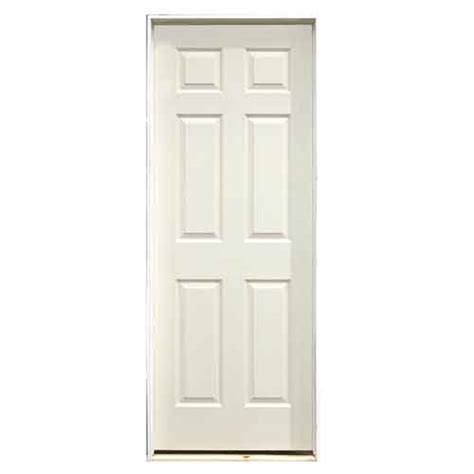 Painting 6 Panel Interior Doors by 6 Panel Pre Hung Painted Door 30 Quot X 80 Quot Left Rona