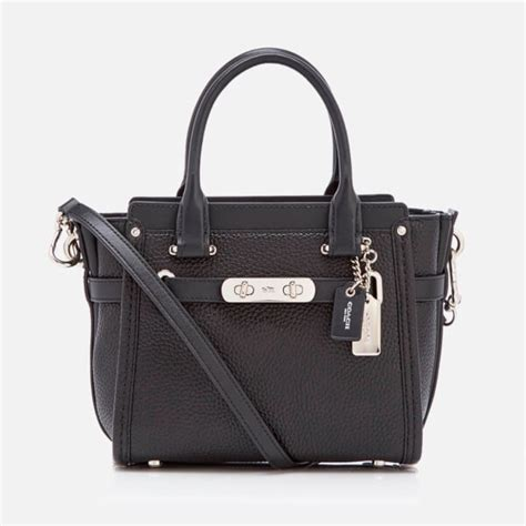Coach Swagger 21 Gunmetal 10 coach s coach swagger 21 bag black free uk