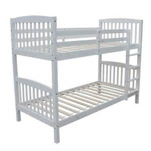 3ft Bunk Beds Homegear 3ft Single Wooden Bunk Bed White The Sports Hq