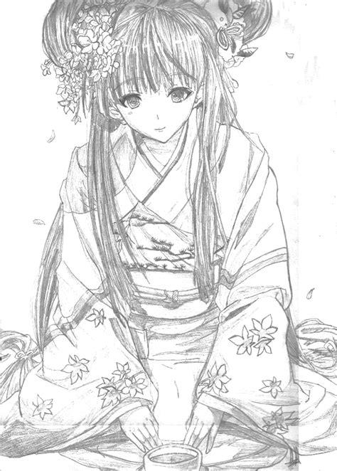 japanese girl kimono coloring page kimono artists coloring book miku kimono vocaloid line
