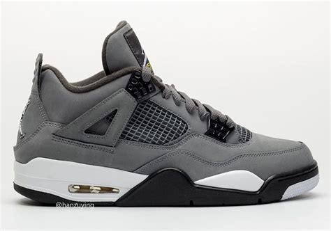 Air 4 Cool Grey On by Air 4 Cool Grey 308497 007 2019 Release Date Sneakernews