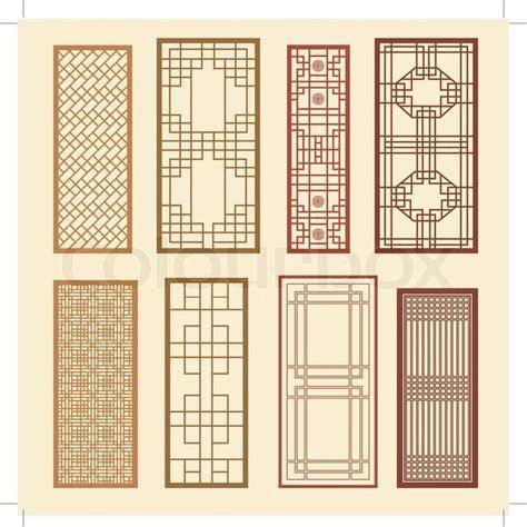 Pattern Window Frame | stock vector of korean old of window frame symbol sets