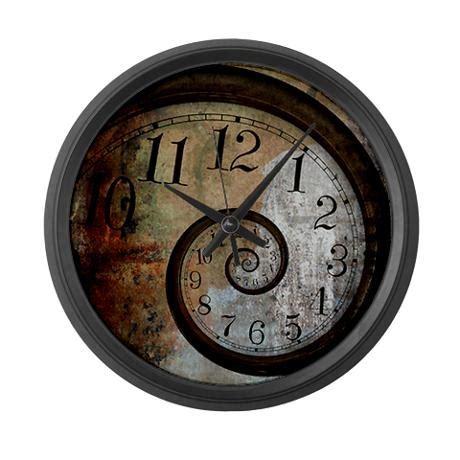 spiral clock face cool stuff pinterest spiral face large wall clock stuff lust pinterest