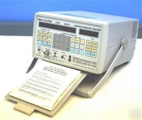 capacitor inductor analyzer sencore lc 102 auto z capacitor inductor analyzer