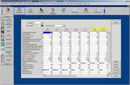 onq pms system for front desk fidelio opera pms property management system