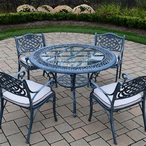 Free Patio Set by Oakland Living Mississippi Cast Aluminum 5 Patio