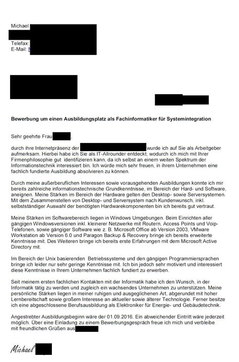 Lebenslauf Muster Umschulung Bewerbung Fachinformatiker Systemintegration Bei Safetynetworks Page 4 Bewerbung