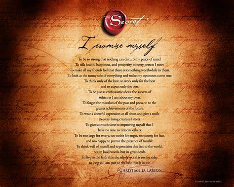 The Secret Mantra i promise myself mantra