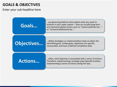 Goals and Objectives PowerPoint Template   SketchBubble