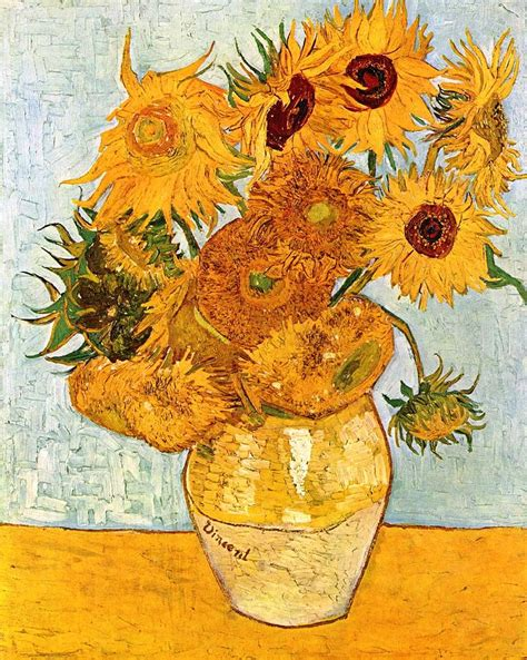 12 sunflowers in a vase painting by sumit mehndiratta