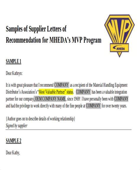 9 sle business recommendation letters sle templates