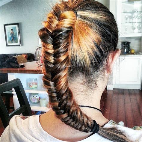 ponytail braid  hairstyles   workout popsugar fitness photo