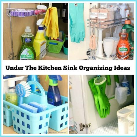 great idea for supplies under the kitchen sink too how to organize under the kitchen sink