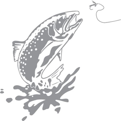 Trout Jumping   Pre cut Patterns