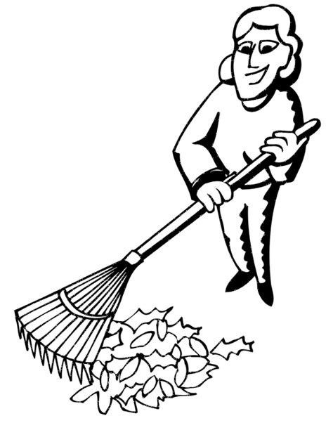 coloring pages of raking leaves autumn leaves coloring page lady raking leaves