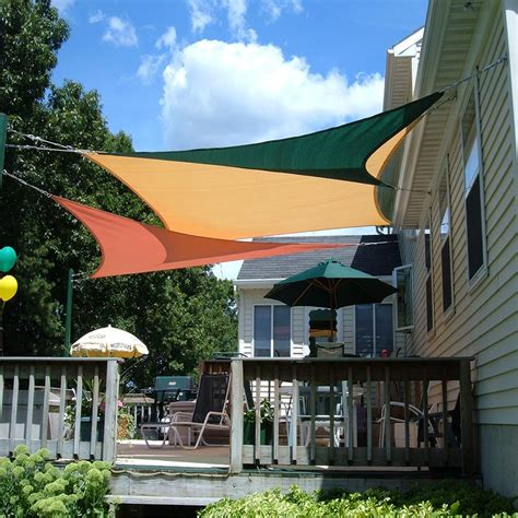 shade cover for patio quictent 12 18 20 ft triangle sun shade sail patio pool