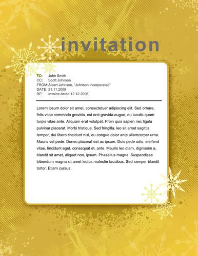 Invitation Letter For Carol Free Invitation Templates The Grid System