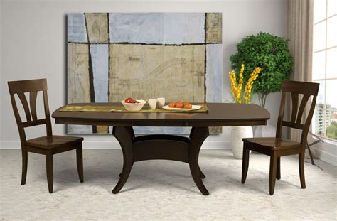 crescent deluxe dining table saloom furniture company
