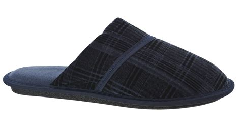 mens cool slippers mens cool indoor flat mule sole navy slip on gents