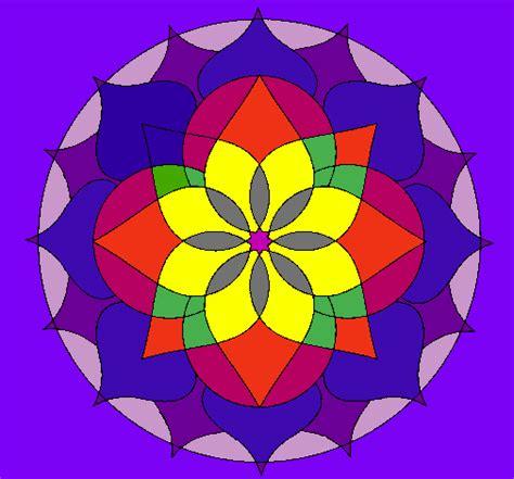 imagenes de mandalas a color dibujo de mandala 14 pintado por color en dibujos net el