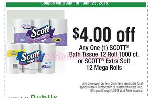 scott toilet paper coupons 2018