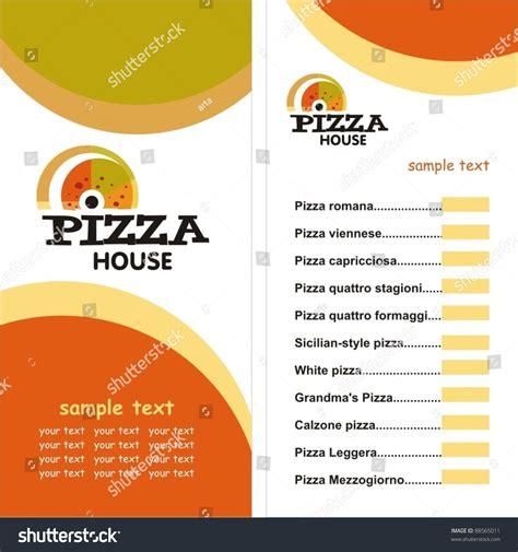 illustrator menu template pizza menu template vector illustration 88565011