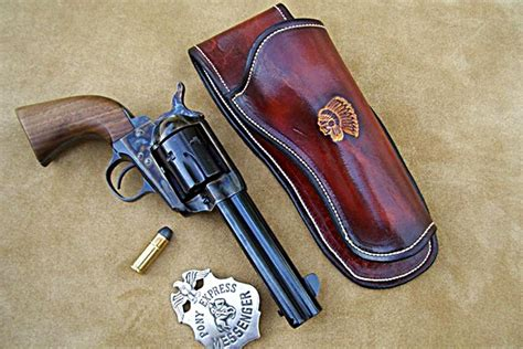 Handmade Gun Holsters - custom leather gun holster for 5 barrel revolvers