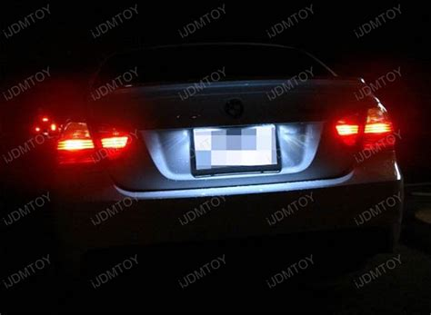 sylvania led license plate light mini bulb oem replace error free led license plate lights for bmw 1