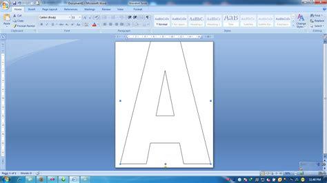 membuat  mencetak huruf font sesuai ukuran