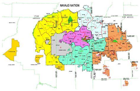navajo nation map arizona navajo reservation