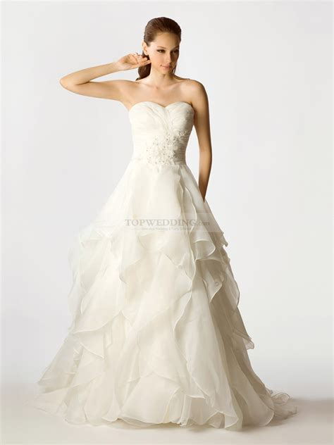 Brautkleider Organza by Appliqued Organza Wedding Dress With Asymmetrical Layers