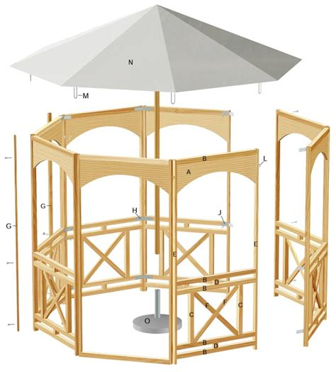 progetto gazebo come costruire un gazebo in legno 30 foto descritte