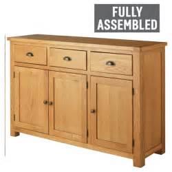 Another Word For Sideboard Buy Heart Of House Kent 3 Door 3 Drwr Oak Amp Oak Veneer