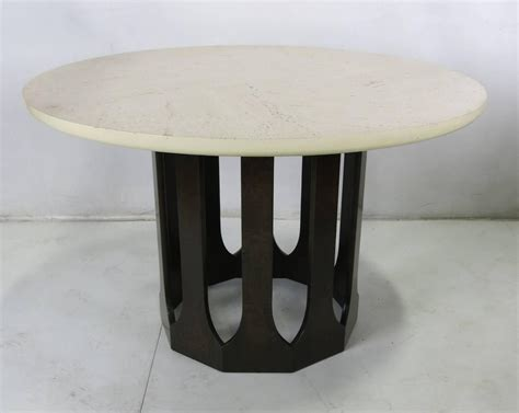 Travertine Dining Table For Sale Mahogany Dining Table With Travertine Top By Harvey Probber For Sale At 1stdibs