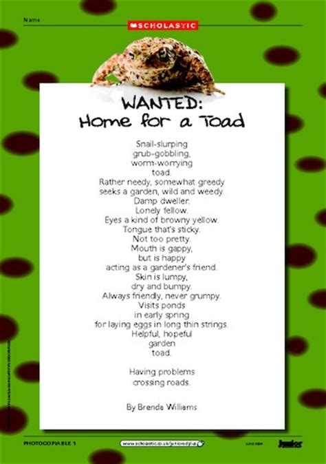 best environment poems poems poets poetry resources home for a toad environmental poem primary ks2