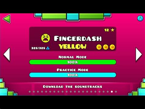 geometry dash full version all coins geometry dash fingerdash yellow youtube