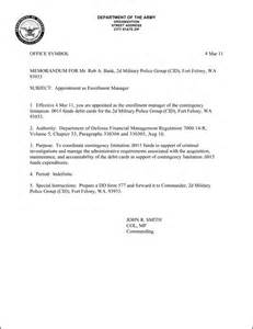 Navy Appointment Letter Instruction Army Informal Memorandum Pictures To Pin On Pinterest