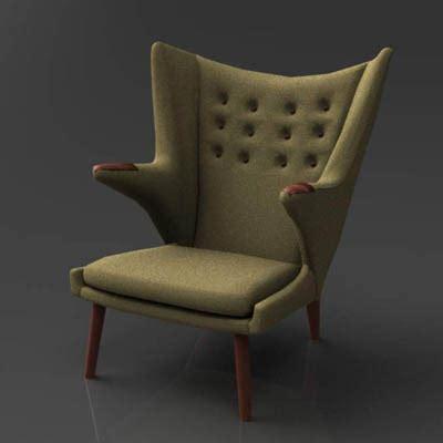 teddy chair hans wegner wegner chair 3d model formfonts 3d models textures