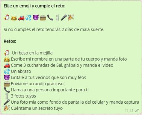 preguntas exitantes para hacerle a tu novio elije un emoji y cumple el reto juegos para whatsapp