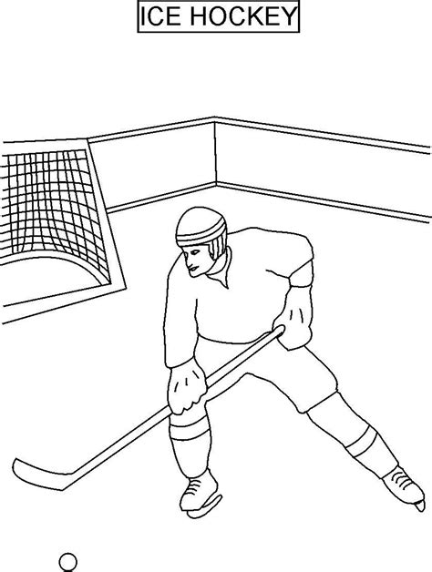 Hockey Coloring Pages Pdf | ice hockey coloring printable page for kids