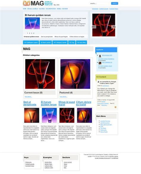 joomla k2 templates mag joomla k2 magazine template simple versatile