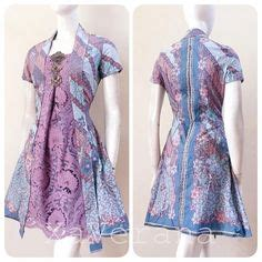 rok bahan satin velvet baju batik modern murah model dress batik