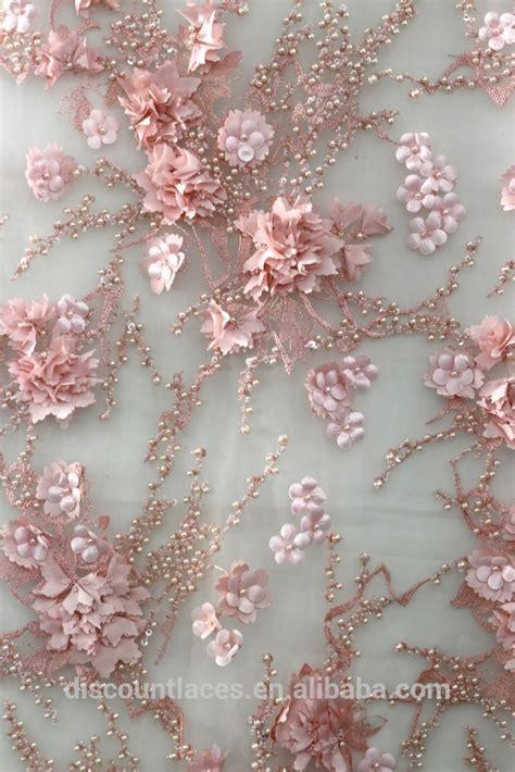 Dress Putih Bunga Besar Sku24907 2016 desain baru 3d bunga renda bordir kain renda prancis