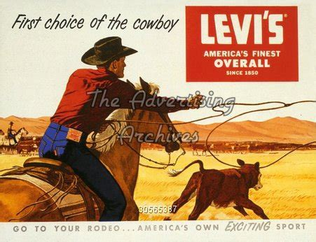 the advertising archives | magazine advert | levi's | 1950s