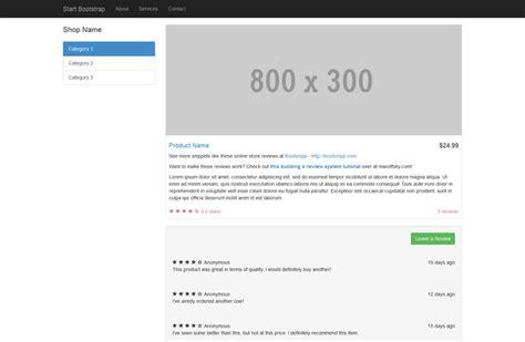free bootstrap shop template bootstrap temaer benny og lennart
