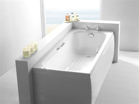 1800mm shower bath carron 1800mm x 700mm single ended bath with twingrips from serene bathrooms