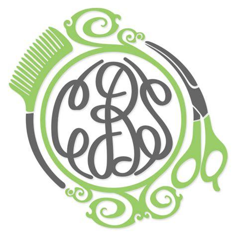 monogram ideas hair salon svg cuttable frames