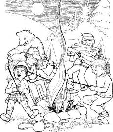 campers colouring pages
