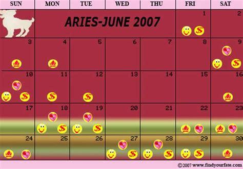 Aries Calendar 2007 Astrology Calendars For All Zodiac Signs Aries